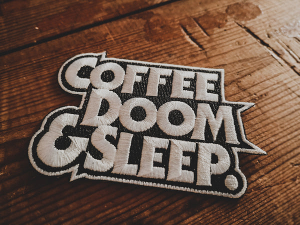 Coffee, Doom & Sleep - Patch - mangobeard