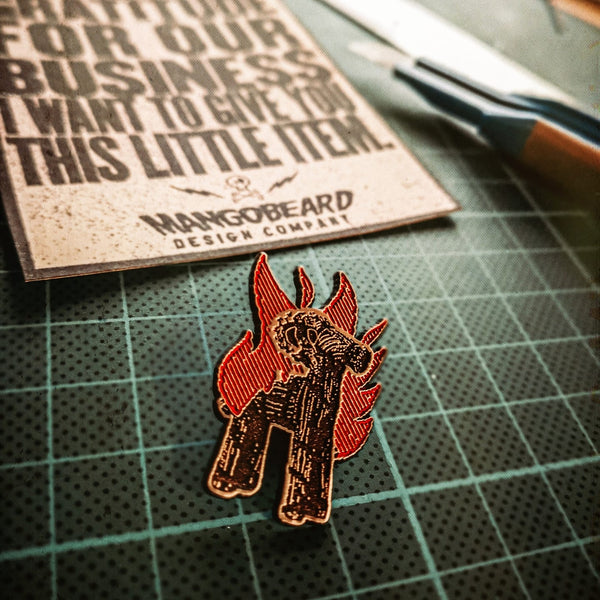 Burning Goat - Pin - mangobeard