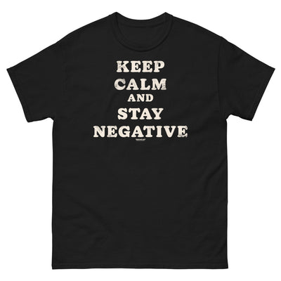 Keep calm and stay negative - Men's heavyweight tee - mangobeard