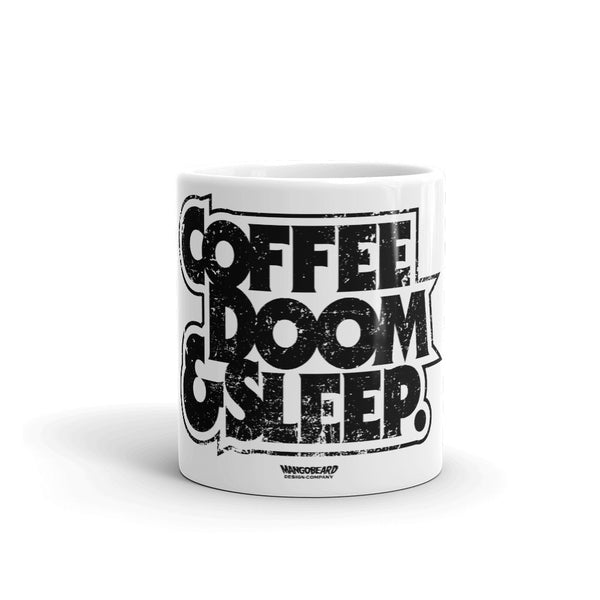 Coffe, Doom & Sleep 11oz Mug - mangobeard
