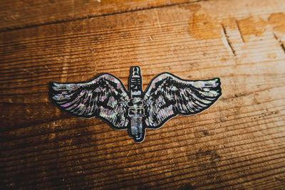 Flying Spark plug - Sticker - mangobeard