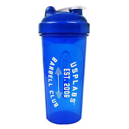 USP Labs, USP Labs Barbell Club Shaker Blue 25 OZ, 25 OZ, Blue