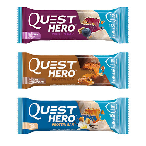 Quest Nutrition, Quest Nutrition Hero Bar Shipper Variety 12 Boxes, 12 Boxes, Variety