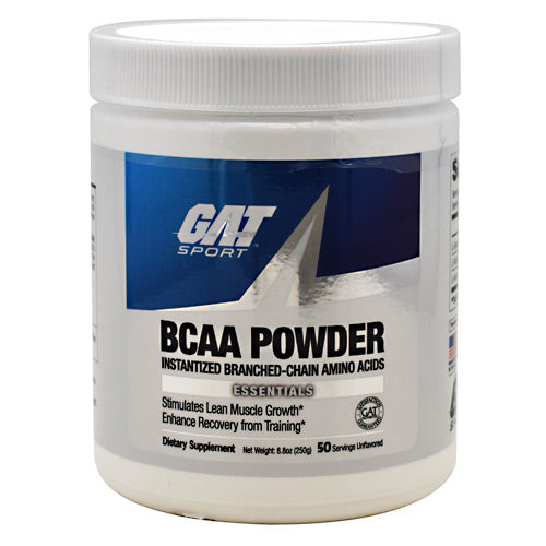 GAT Sport, GAT Sport BCAA Powder Unflavored 50 Servings, 50 Servings, Unflavored