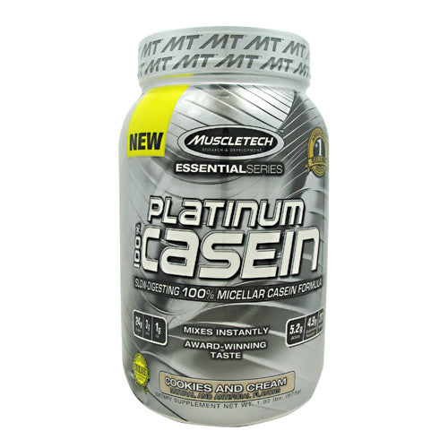 MuscleTech, MuscleTech Essential Series 100% Platinum Casein Cookies and Cream 1.92 lbs (873g), 1.92 lbs (873g), Cookies and Cream