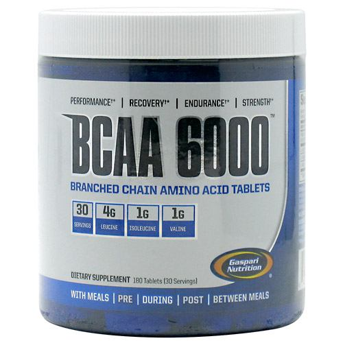 Gaspari Nutrition, Gaspari Nutrition BCAA 6000  180 Tablets, 180 Tablets, Original or Unflavored