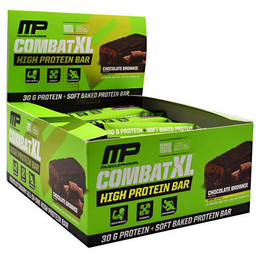 MusclePharm, MusclePharm Combat XL Chocolate Brownie 12 bars, 12 bars, Chocolate Brownie