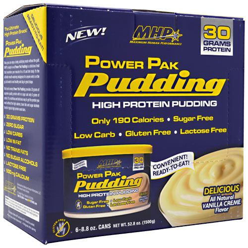 MHP, MHP Power Pak Pudding, Chocolate, Single, 1 Pak, Chocolate
