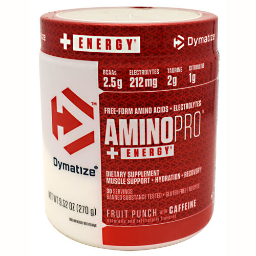 Dymatize, Dymatize Performance Driven Amino Pro With Caffeine Fruit Punch 30 Servings, 30 Servings, Fruit Punch