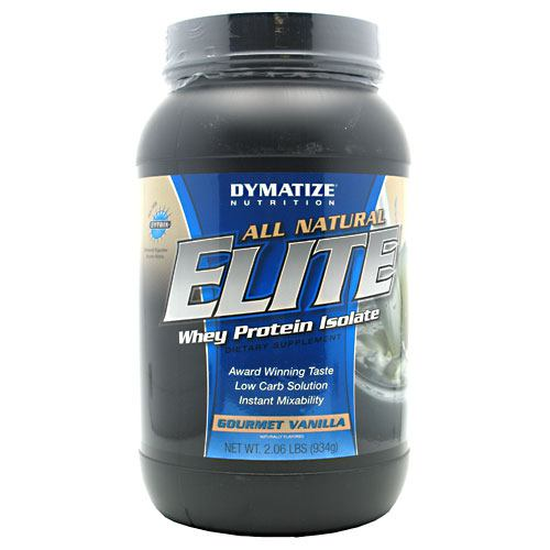 Dymatize, Dymatize All Natural Elite Whey Protein Isolate Gourmet Vanilla 2 lbs, 2 lbs, Gourmet Vanilla