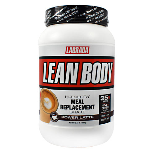Labrada Nutrition, Labrada Nutrition Lean Body Hi-Energy Meal Replacement Shake Power Latte 16 Servings (2.47 LB), 16 Servings (2.47 LB), Power Latte