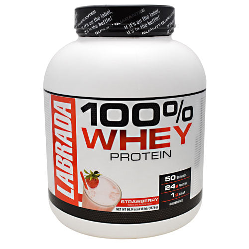 Labrada Nutrition, Labrada Nutrition 100% Whey Protein Strawberry 4.13lb (1875g), 4.13lb (1875g), Strawberry