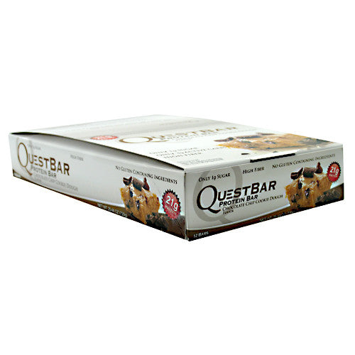 Quest Protein Bar: Chocolate Chip Cookie Dough, (4, 8, or 12)