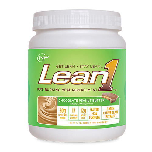 NUTRITION 53, NUTRITION 53 Lean1 Chocolate Peanut Butter 10 Servings / 1.3 lbs (600 g), 10 Servings / 1.3 lbs (600 g), Chocolate Peanut Butter