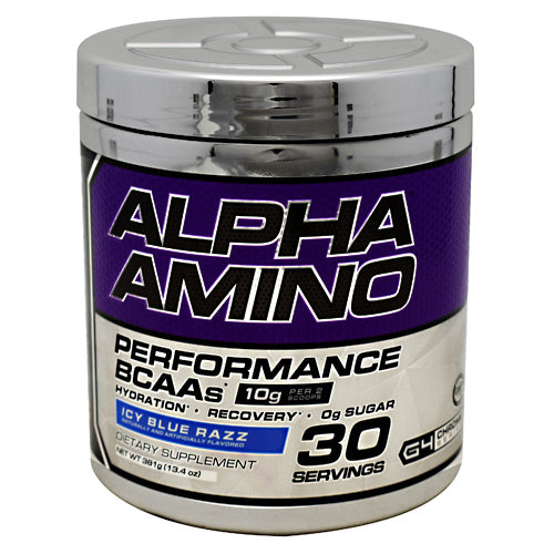 Cellucor, Cellucor Chrome Series Alpha Amino Icy Blue Razz 30 servings (13.4oz) 381g, 30 servings (13.4oz) 381g, Icy Blue Razz