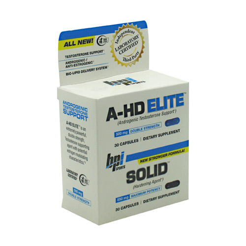 BPI, BPI A-HD Elite/Solid Combo  30 Capsules, 30 Capsules, Original or Unflavored