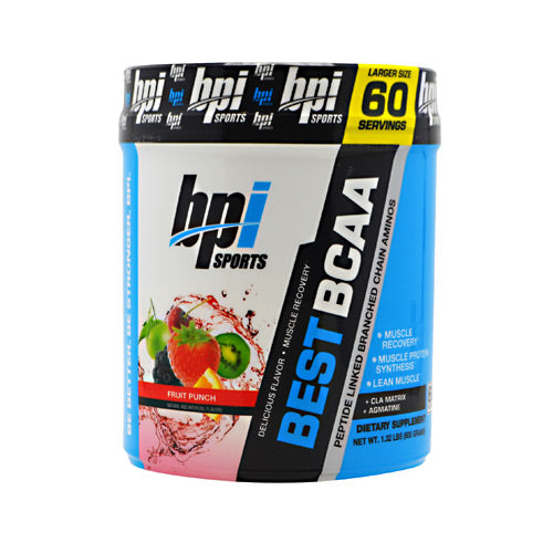 BPI, BPI Best BCAA Fruit Punch 60 Servings, 60 Servings, Fruit Punch