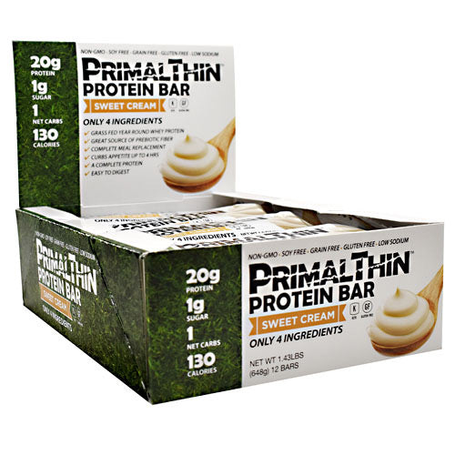 Julian Bakery, Julian Bakery PrimalThin Protein Bar Sweet Cream 12 - 1.9 oz (54 g) Bars, 12 - 1.9 oz (54 g) Bars, Sweet Cream