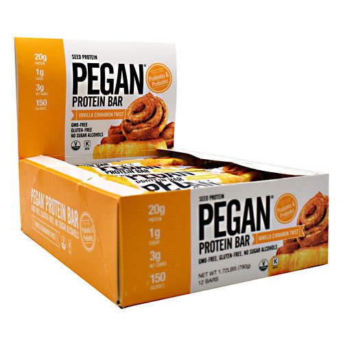 Julian Bakery, Julian Bakery Pegan Protein Vanilla Cinnamon Twist 12 - 2.29 oz (65 g) Bars, 12 - 2.29 oz (65 g) Bars, Vanilla Cinnamon Twist