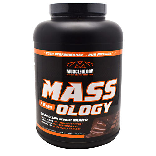 Muscleology Sports Nutrition, Muscleology Sports Nutrition Mass-Ology Chocolate 7.8 lbs (3564 g), 7.8 lbs (3564 g), Chocolate
