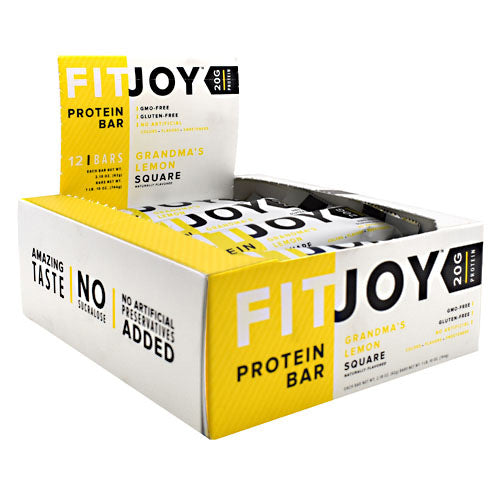 FitJoy, FitJoy FitJoy Bar Grandma's Lemon Square 12- 2.18 oz (62g) bars, 12- 2.18 oz (62g) bars, Grandma's Lemon Square