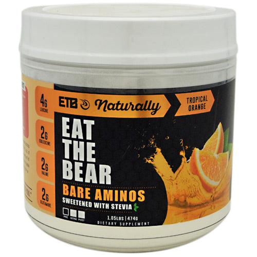 Eat The Bear, Eat The Bear Naturally Bare Aminos Tropical Orange 1.05 LBS (474 G), 1.05 LBS (474 G), Tropical Orange