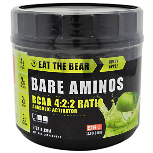 Eat The Bear, Eat The Bear Bare Aminos Green Apple 12.8 oz (385 G), 12.8 oz (385 G), Green Apple