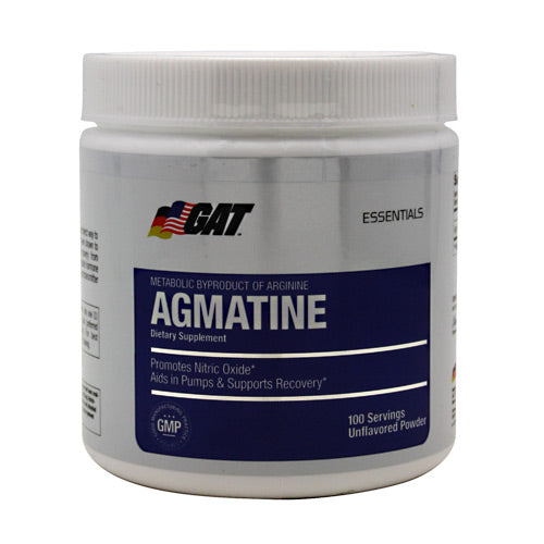 GAT, GAT Agmatine Unflavored 100 Servings, 100 Servings, Unflavored