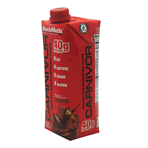 Muscle Meds, Muscle Meds Carnivor RTD Chocolate 12 (500mL) bottles, 12 (500mL) bottles, Chocolate