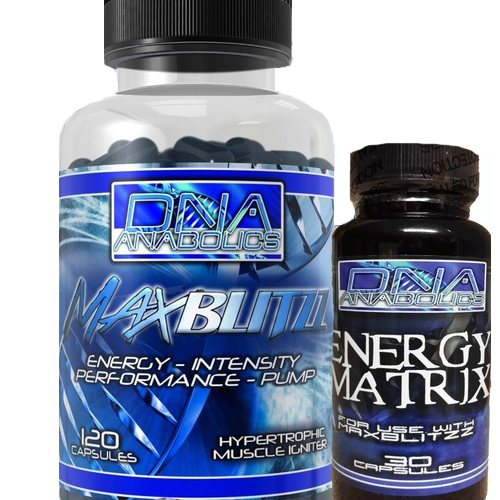 DNA Anabolics, DNA: MaxBlitzz, 120 Caps, Hypertropic Muscle Igniter, Pre-Workout - MuscleMart Plus