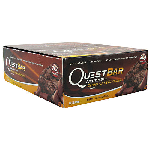 Quest Protein Bar: Chocolate Brownie (Box of  4, 8, or 12 Bars)