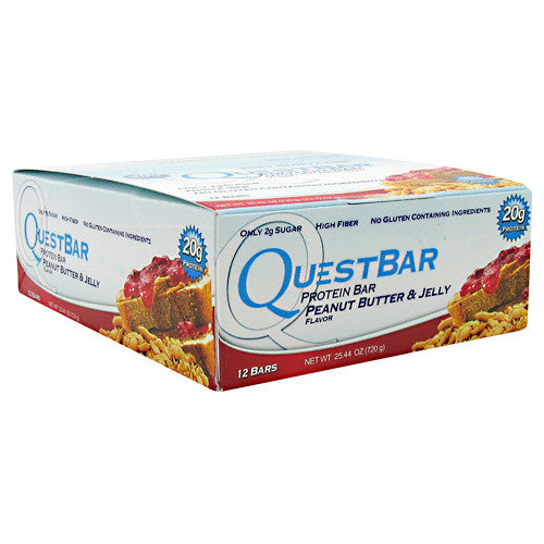 Quest Protein Bar: Peanut Butter & Jelly (Pack of 4, 8, or 12)