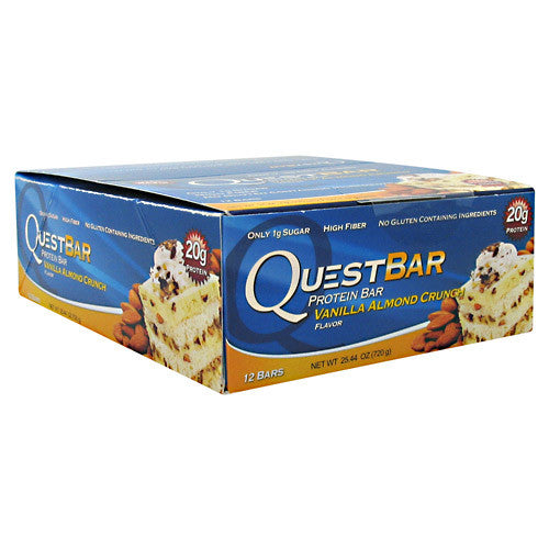 Quest Protein Bar: Vanilla Almond Crunch (Pack of 4, 8, or 12)