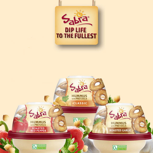 Sabra Hummus with Pretzels, 6 or 12 Pack