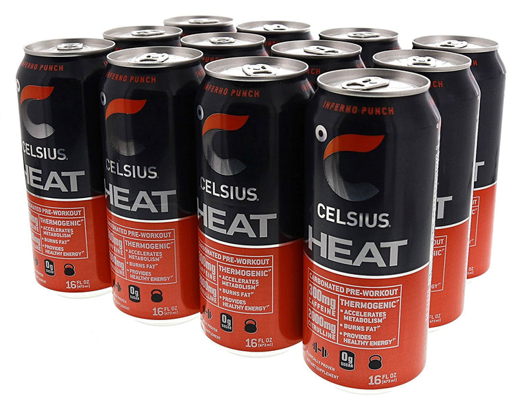 Celsius, Celsius, Heat, Inferno Punch, Single, Single Can, Inferno Punch