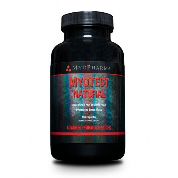 MyoPharma: MyoTest Natural (Testoserone Booster), New Formula, 120 Caps
