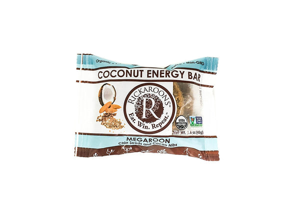 Rickaroons, Rickaroons, Coconut Energy Bar (Chocolate Blonde), Single Bar, Chocolate Blonde (Coconut Dark Chocolate)
