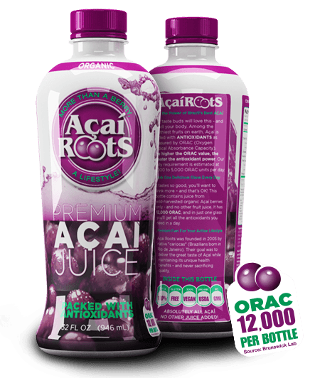Acai Roots, Acai Roots: Premium 100% Acai Juice, 32 Oz, Antioxidants - MuscleMart Plus