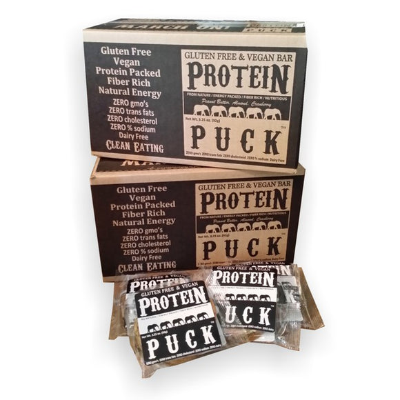 Protein Puck: Gluten Free Energy Bar (3 Flavors) - Box of 16