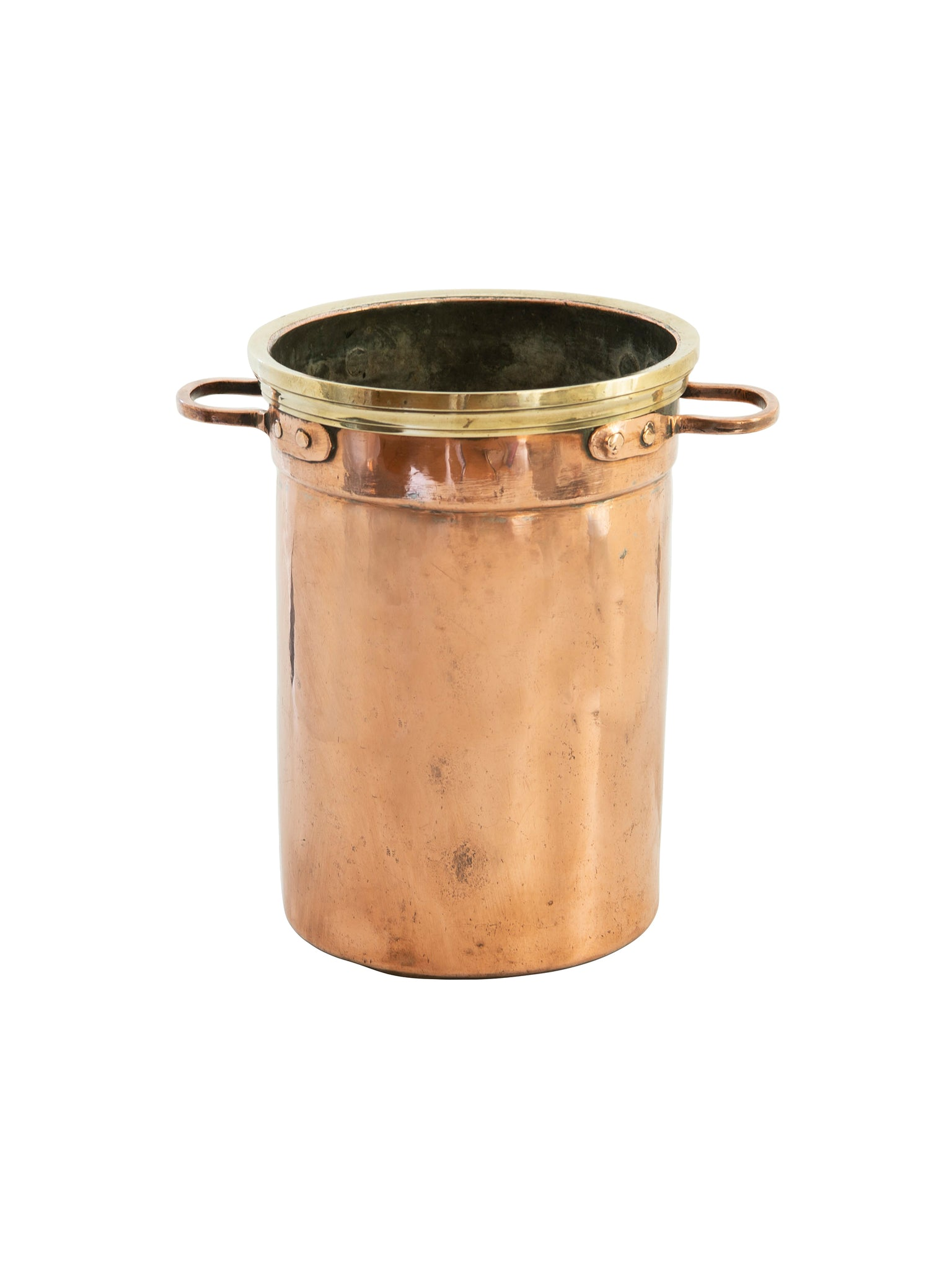 19th Century French Copper and Brass Champagne Bucket Weston Table