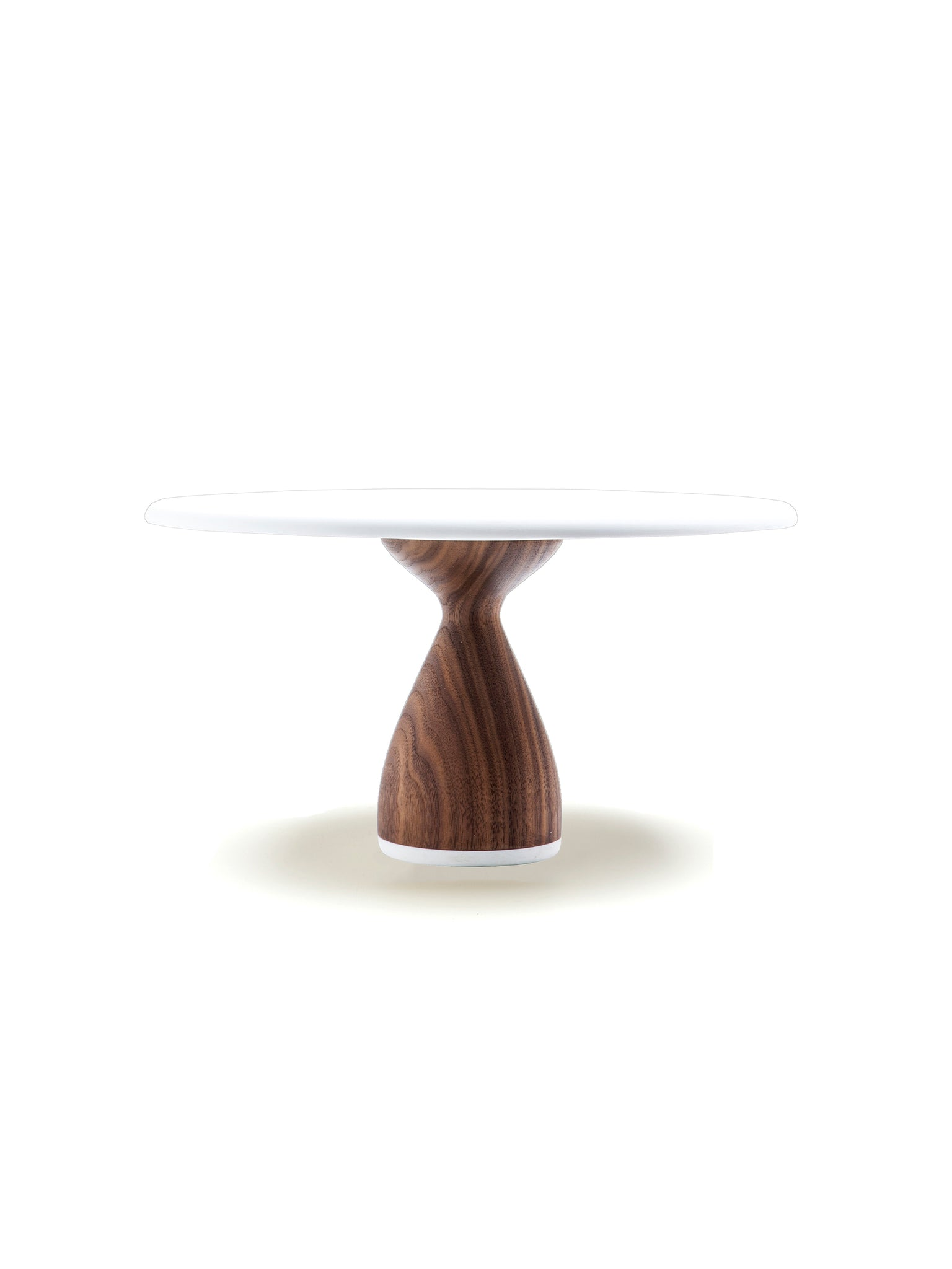 "American Heirloom Hardwood Walnut Thick Base Cake Stand 10"" Weston Table"