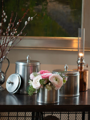 MATCH Pewter Canisters Weston Table