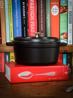 Staub Cast Iron 2.75 Quart Round Cocotte Weston Table