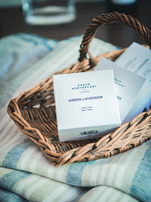 Urban Apothecary London Green Lavender Luxury Soap Weston Table