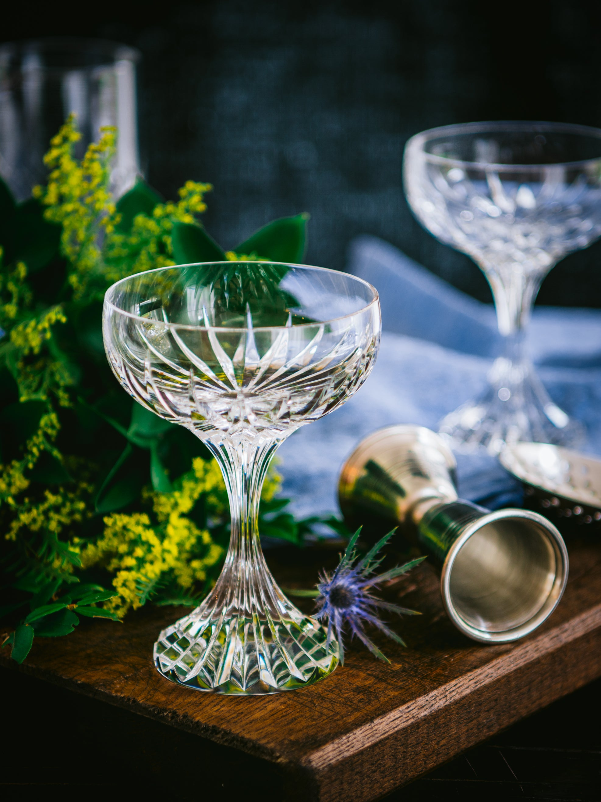 Shop Vintage Baccarat Massena Crystal Champagne Coupes At Weston Table