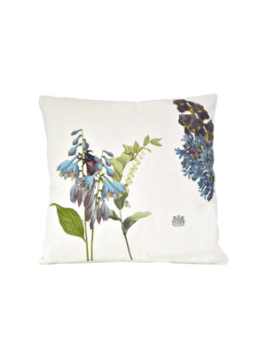 Whim & Caprice Botanical Blue Flowers Pillow Weston Table