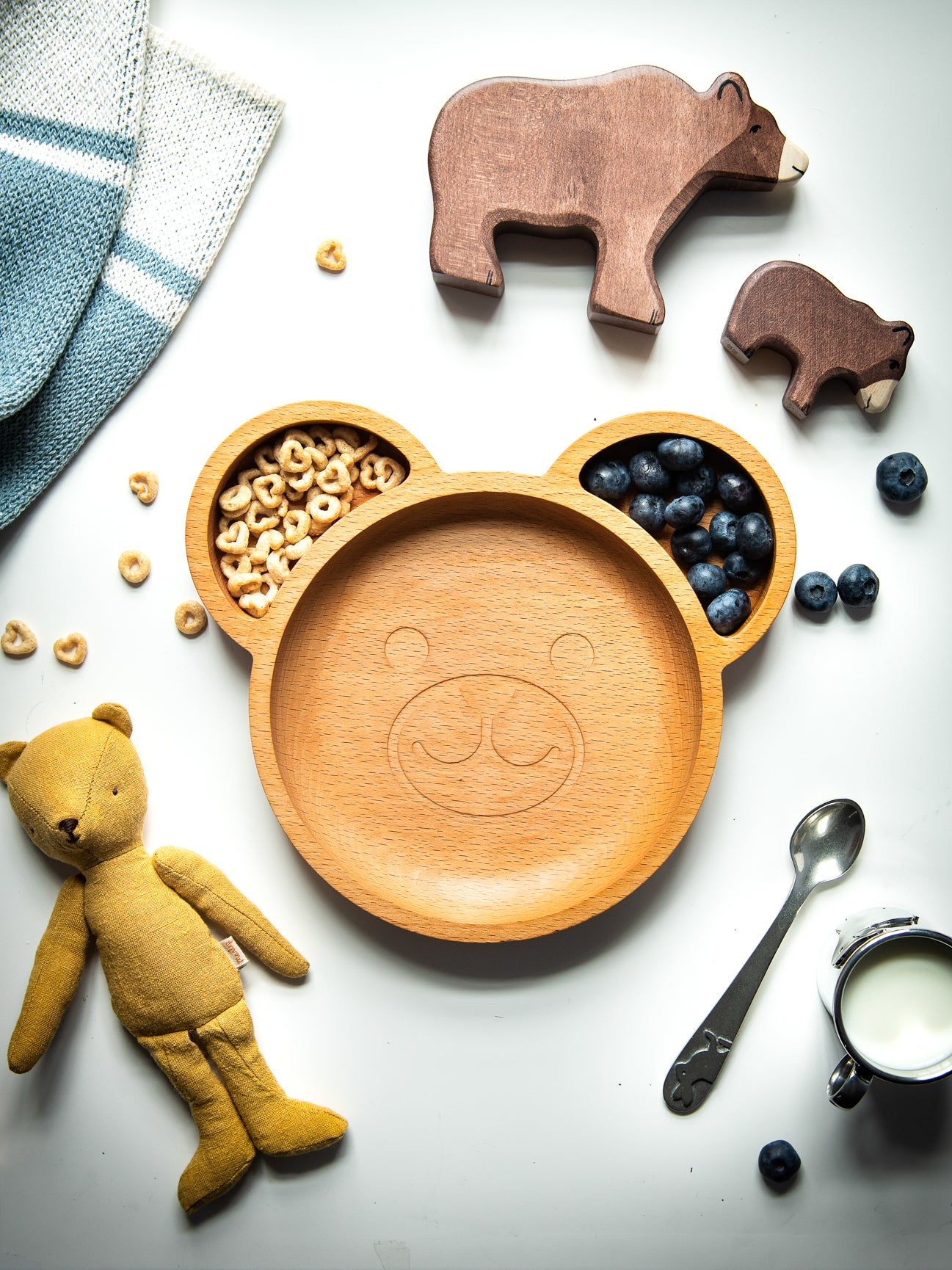 Wood Life Project Wooden Bear Dinnerware