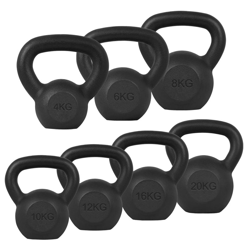 Xn8 Sports Cast Iron Kettlebell Black