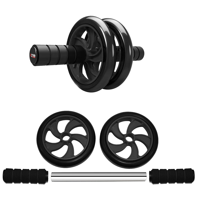 Xn8 Sports Ab Wheel Roller Dark Black
