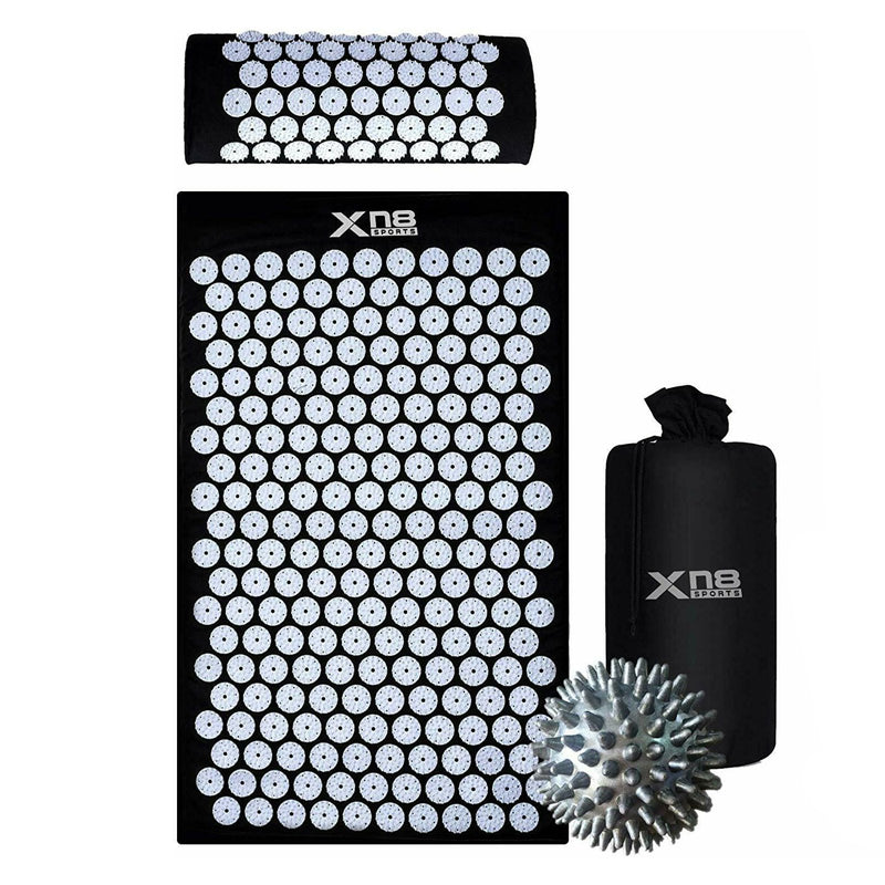 Xn8 Sports Acupressure Mat Set Black And White
